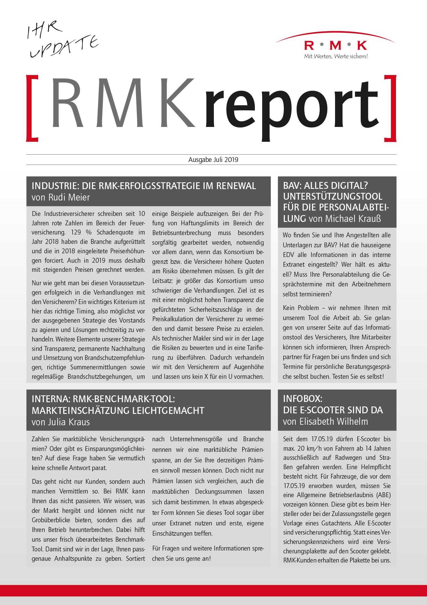 RMK-Report Juli 2019