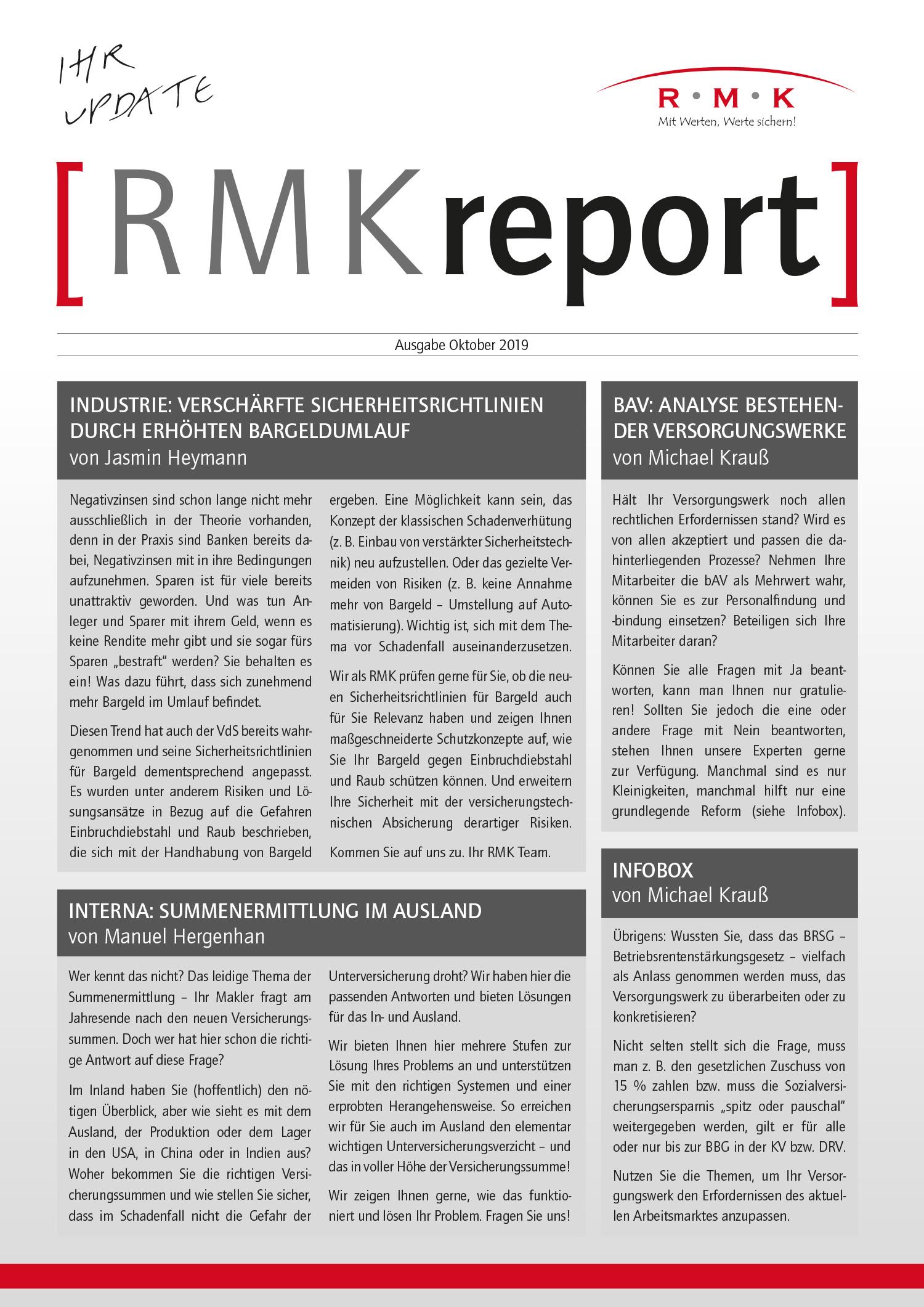 RMK-Report Oktober 2019